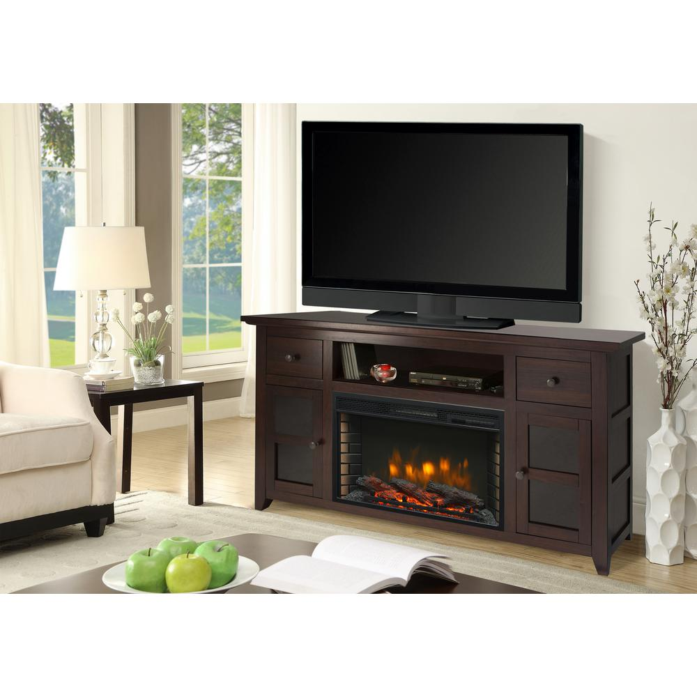 muskoka winchester 56 in freestanding electric fireplace tv stand