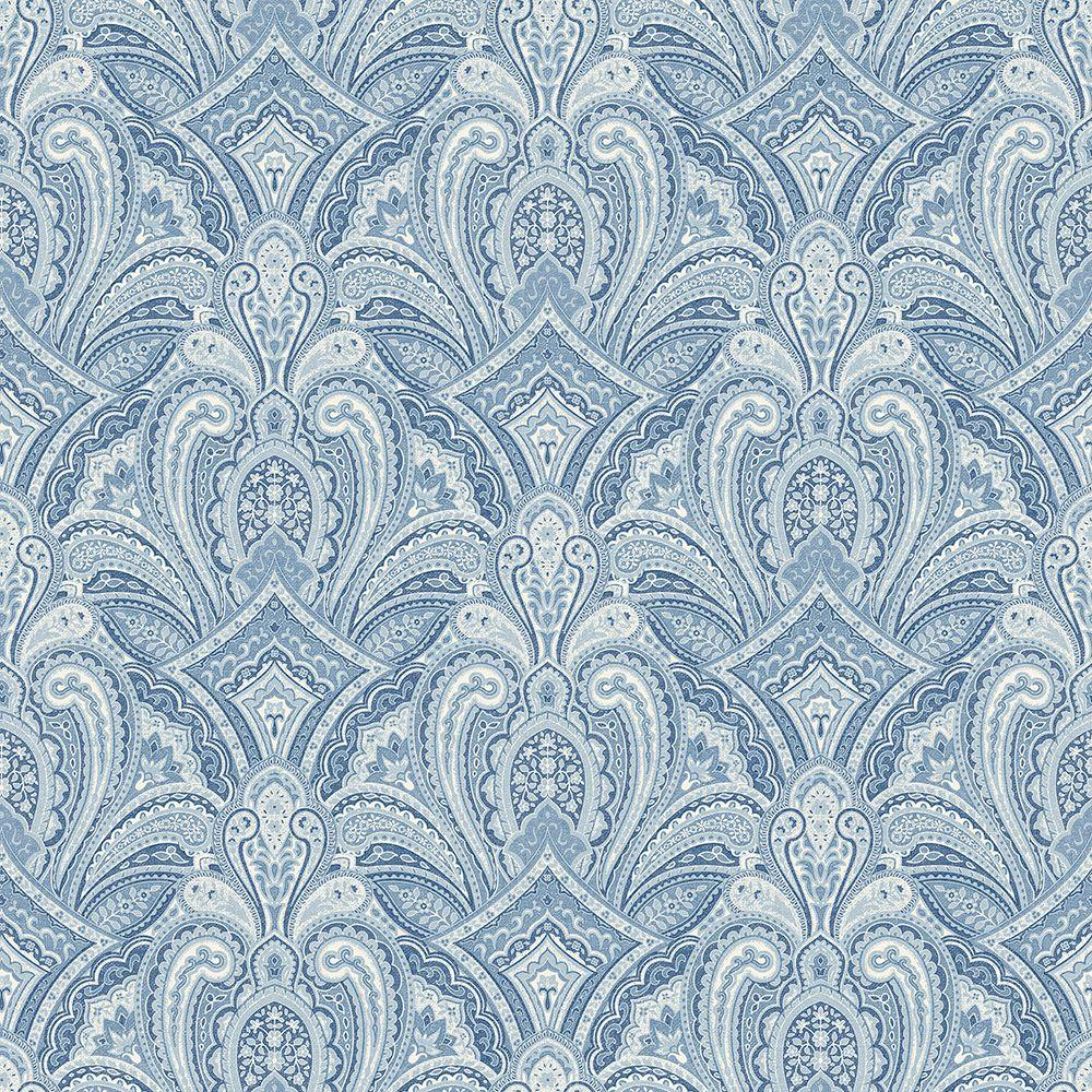 chesapeake barnes blue paisley damask wallpaper man01661 the home