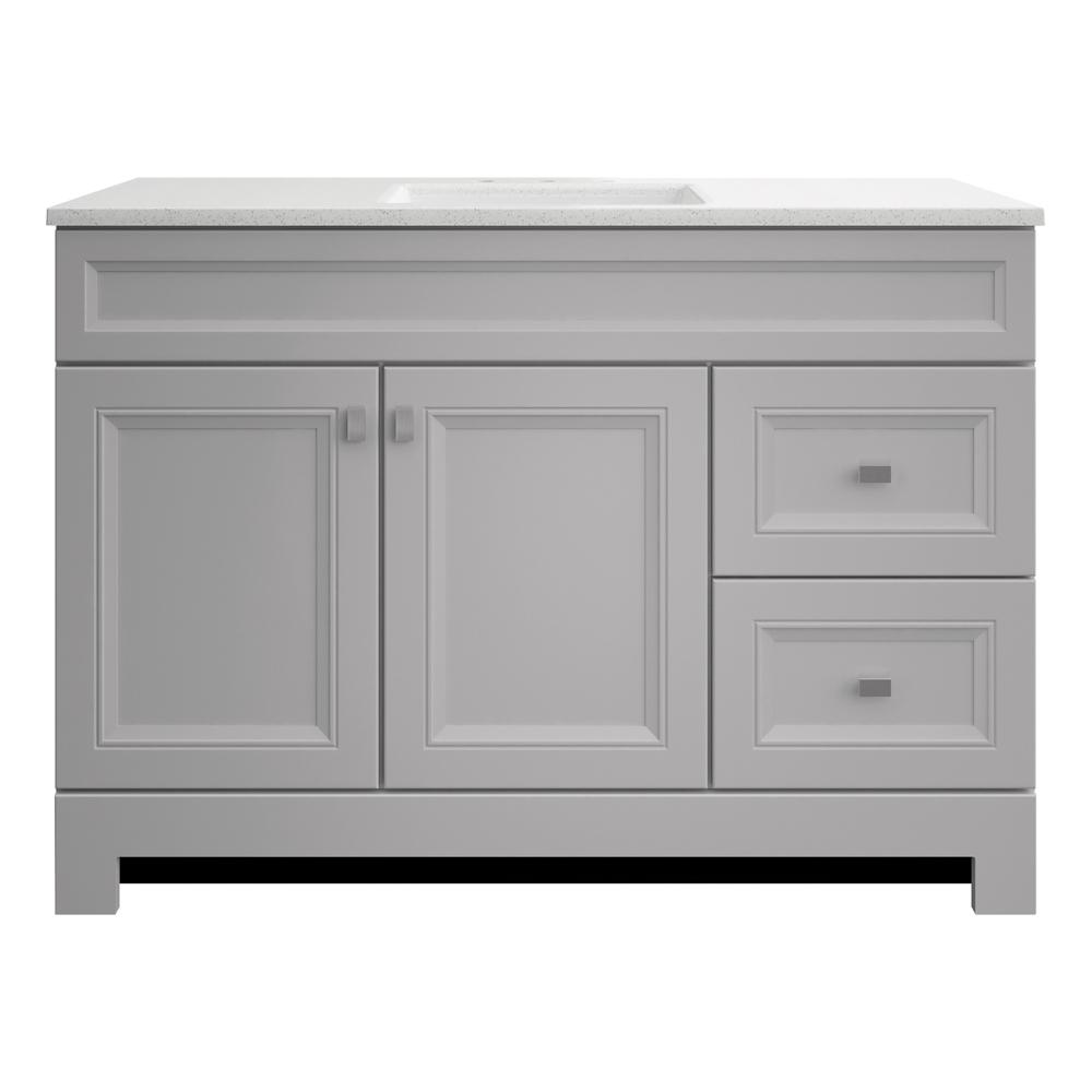 Home Decorators Collection Sedgewood 48 1 2 In W Bath Vanity In Dove Gray With Solid Surface Technology Vanity Top In Arctic With White Sink