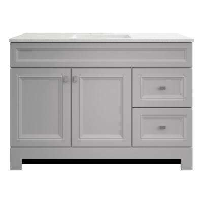 Sedgewood 48-1/2 in. W Bath Vanity in Dove Gray with Solid Surface Technology Vanity Top in Arctic with White Sink