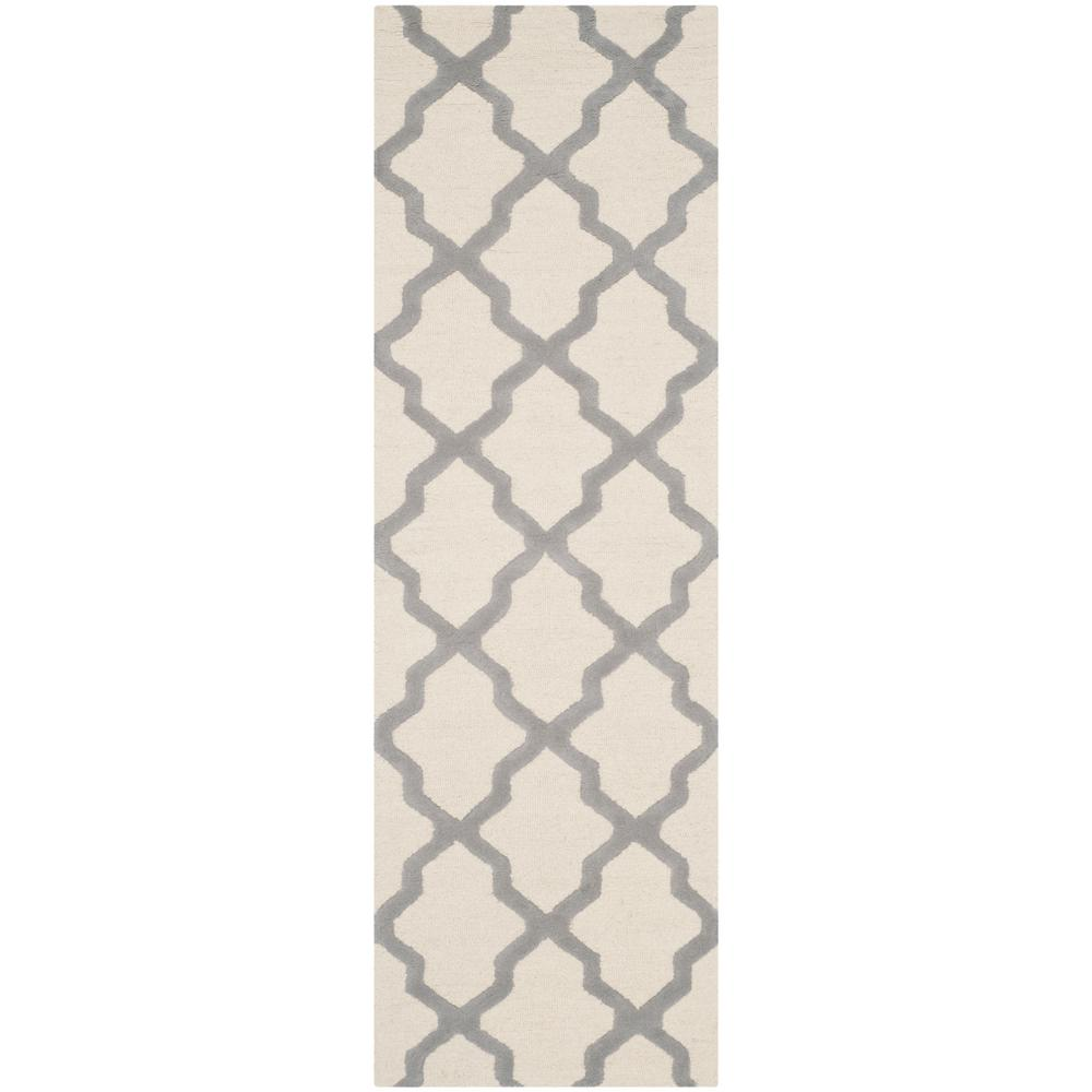 Cambridge Ivory/Silver 2 ft. 6 in. x 12 ft. Runner