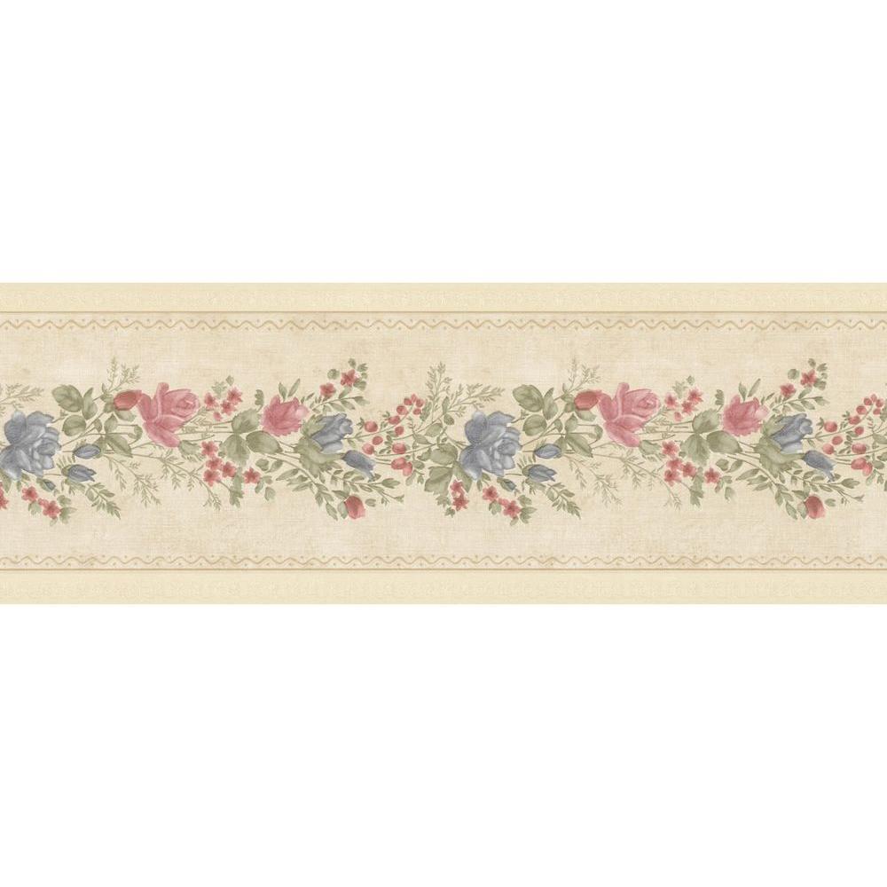Alexa Beige Floral Meadow Wallpaper Border
