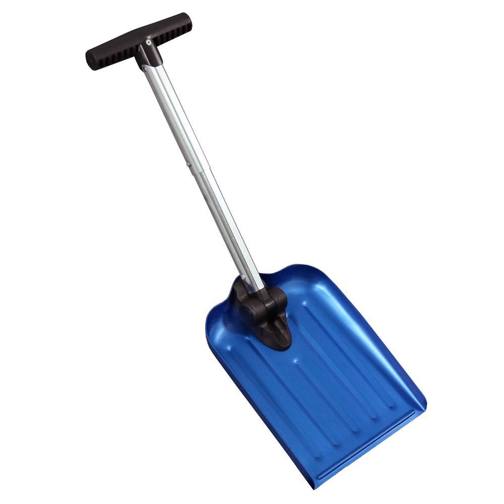 CASL Brands 8 in. Blue Blade Automotive Folding Snow Shovel with Bag