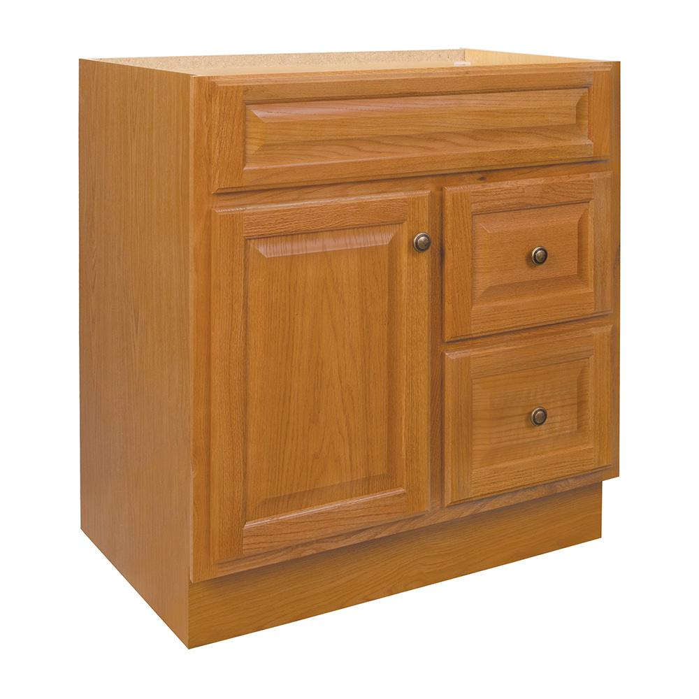 Glacier Bay Hampton 30 In. W X 21 In. D X 33.5 In. H Bath Vanity Cabinet Only In Oak-HOA30DY