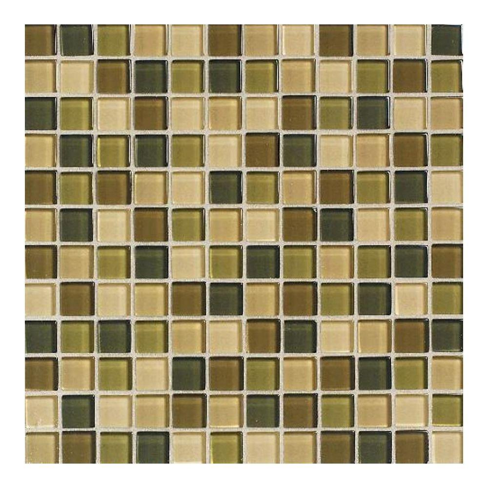 Daltile Maracas Rainforest Blend 12 in. x 12 in. x 8 mm Glass Mesh Mounted Mosaic Wall Tile