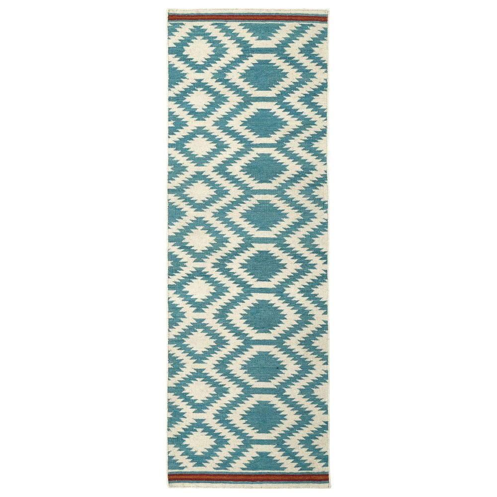 Kaleen Helena Turquoise Area Rug Reviews: Kaleen Nomad Turquoise 2 Ft. 6 In. X 8 Ft. Runner-NOM04-78