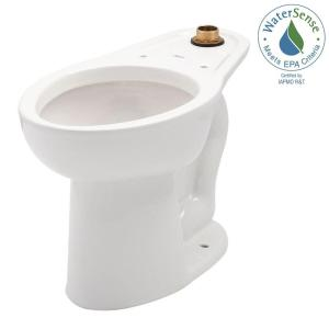 American Standard Madera FloWise 1-piece 1.1 GPF Single Flush High Top Spud Elongated Flush Valve Toilet in White by American Standard