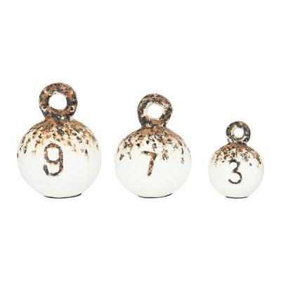 Round Resin Weight Figurines (Set of 3 Sizes)