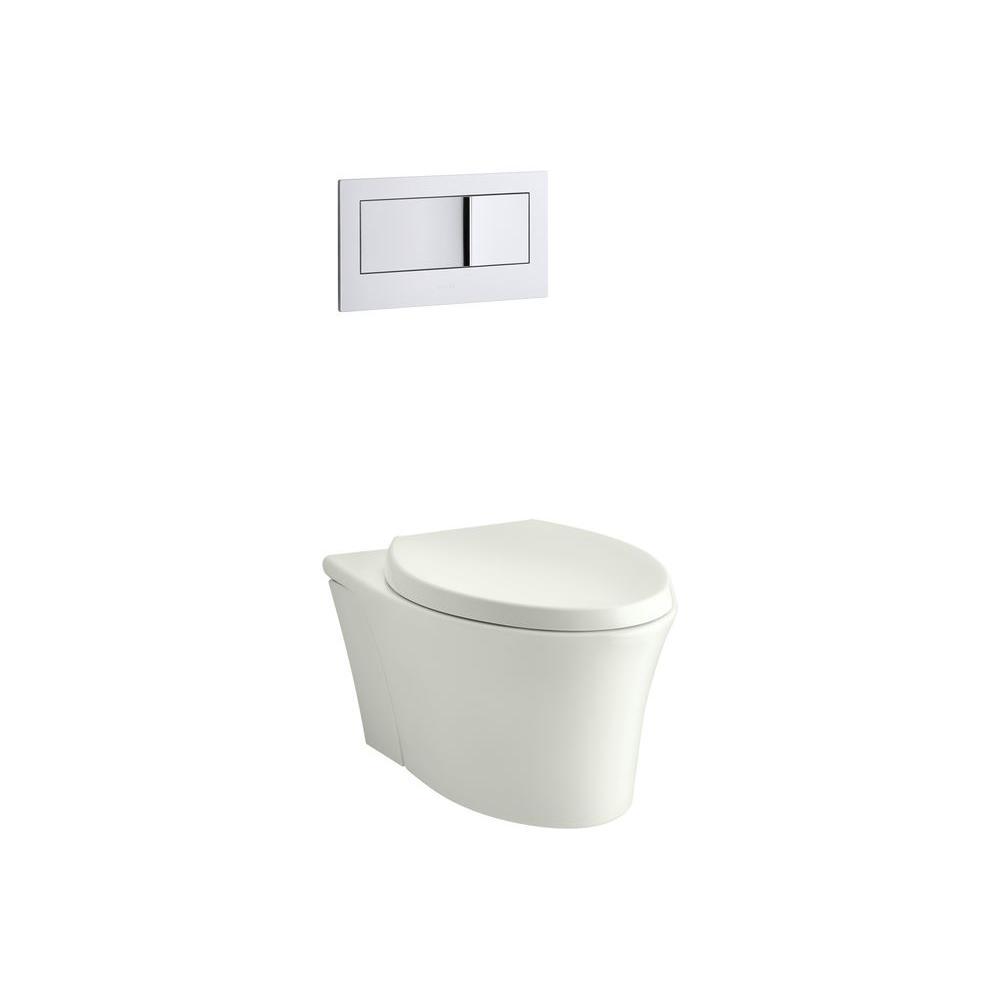 Kohler Veil 1 Piece Dual Flush Elongated Toilet In Dune K