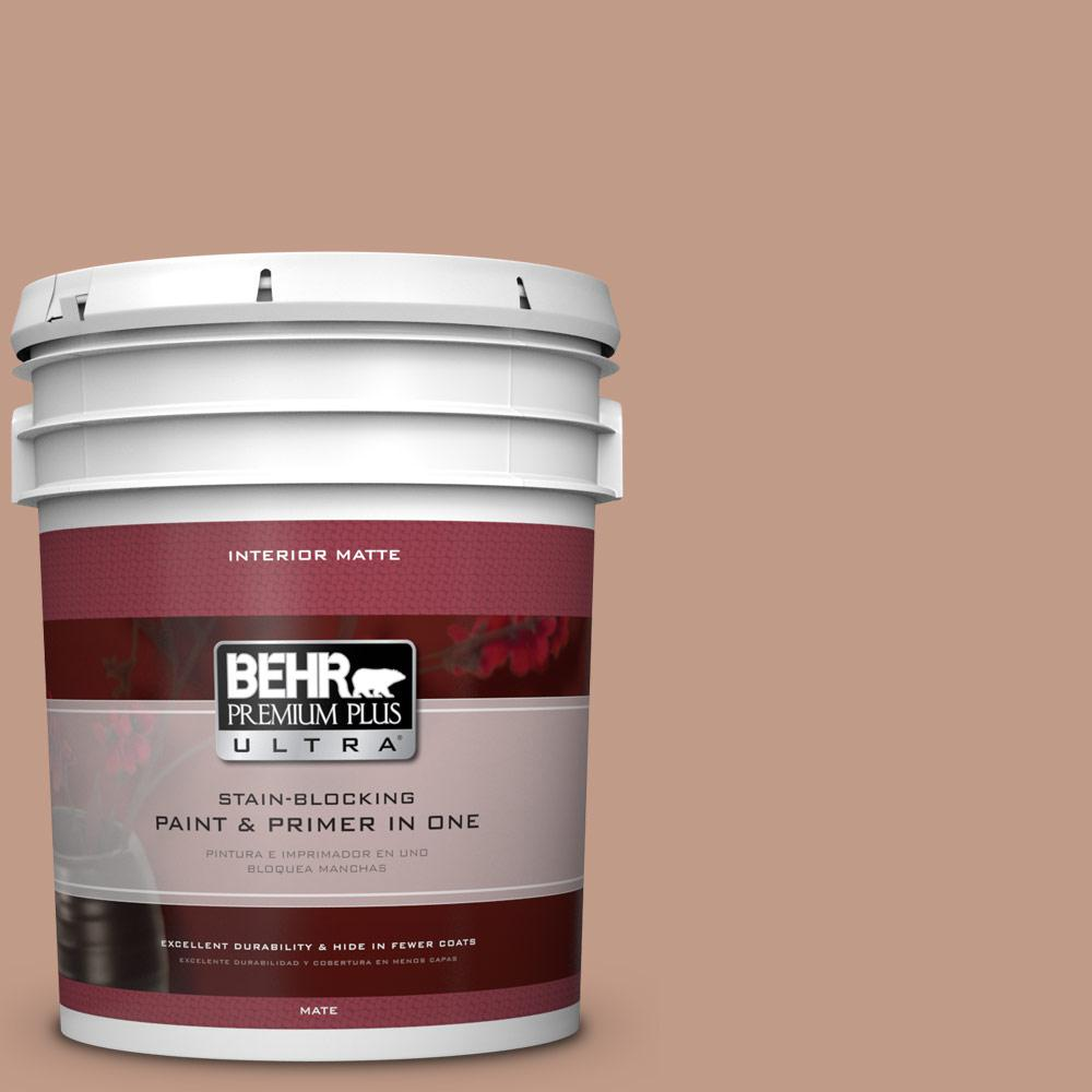 BEHR Premium Plus Ultra 5 gal. #S200-4 Chestnut Bisque Matte Interior Paint