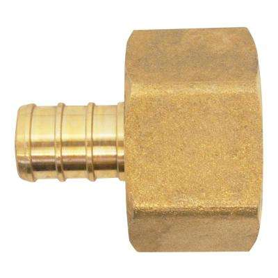 1/2 in. Brass PEX Barb x 3/4 in. Female Pipe Thread Adapter
