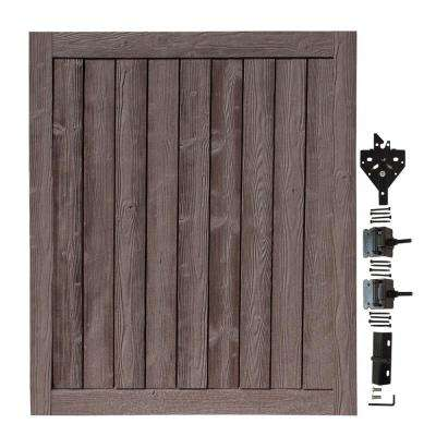 5 ft. W x 6 ft. H Ashland Walnut Brown Composite Privacy Fence Gate
