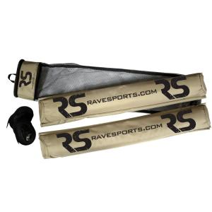 RAVE Sports Stand Up Paddle Board Wide Cross Bar and Roof Pads with Straps by RAVE Sports