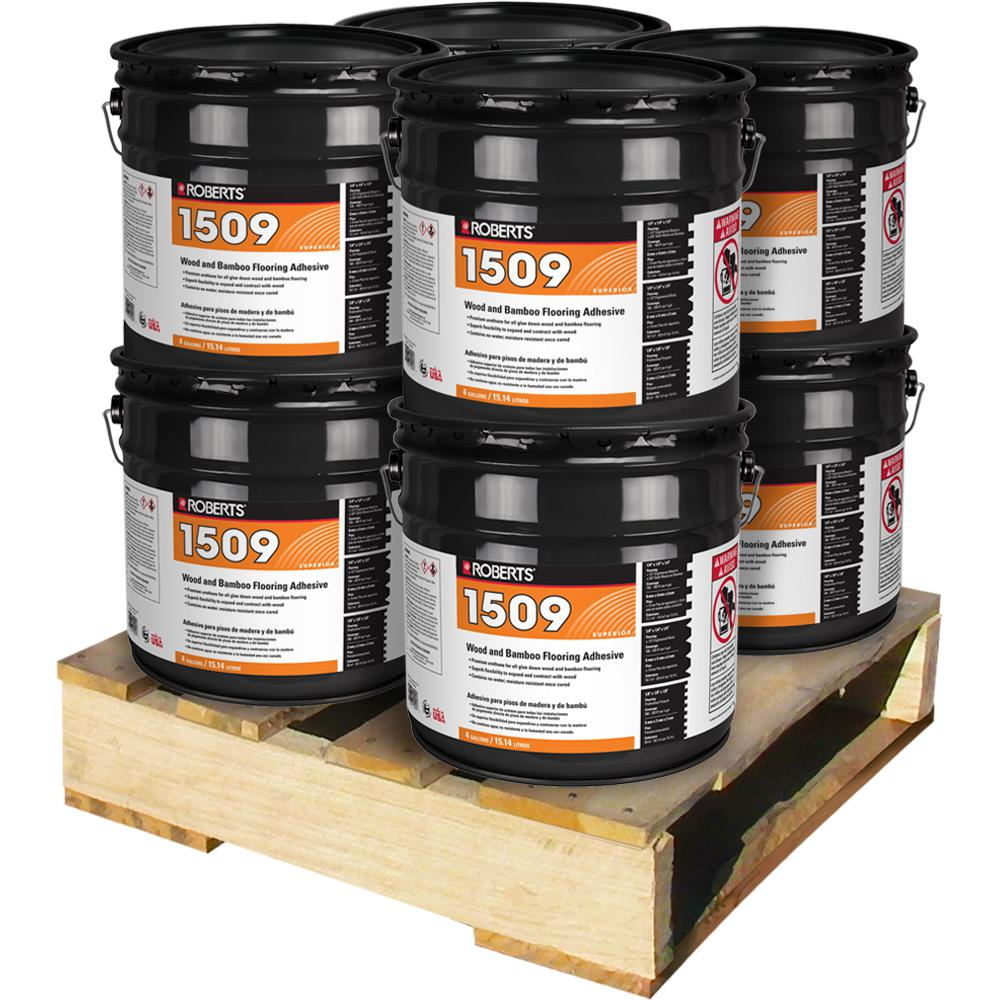 Roberts 4 Gal. Wood and Bamboo Flooring Urethane Adhesive (8 Pail Pallet)