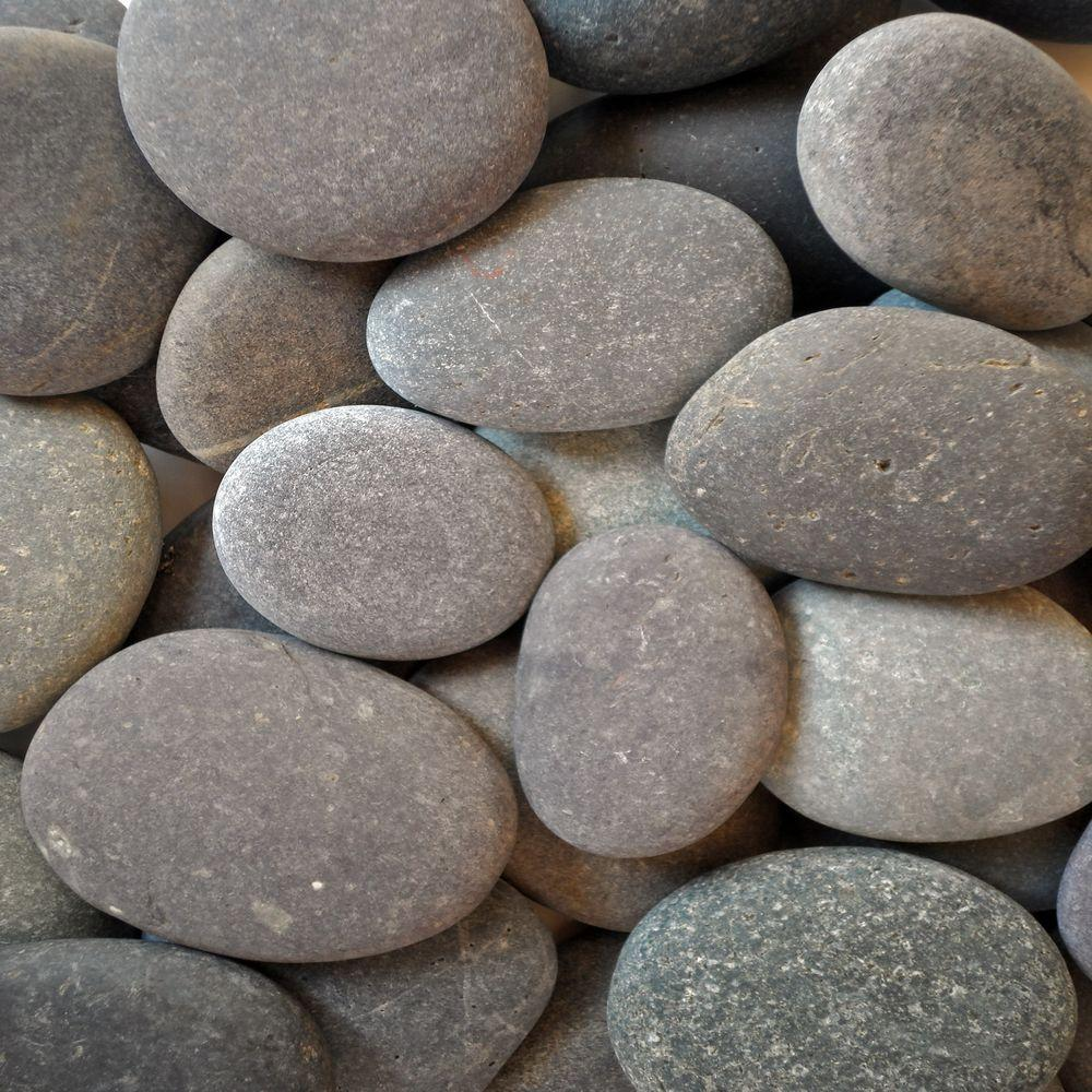 Butler Arts 5 cu. ft. Pallet Black Mexican Beach Unpolished Pebble