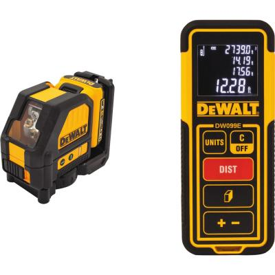 Dewalt 100 Ft Red Self Leveling 360 Degree Cross Line Laser Level With 3 Aaa Batteries Case Dw0811 The Home Depot