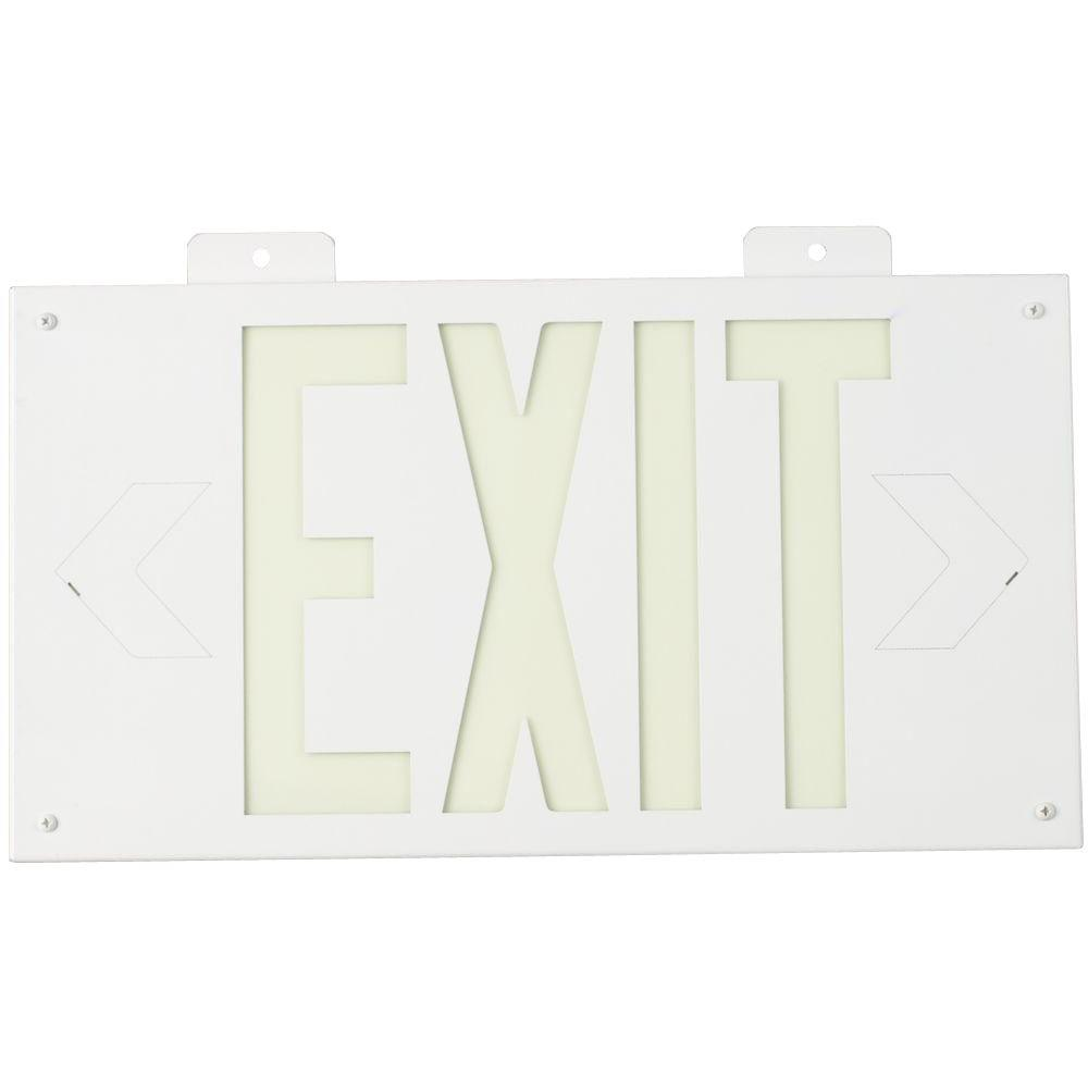 Brady Photolum Exit Sign 1 Sided with Bracket White