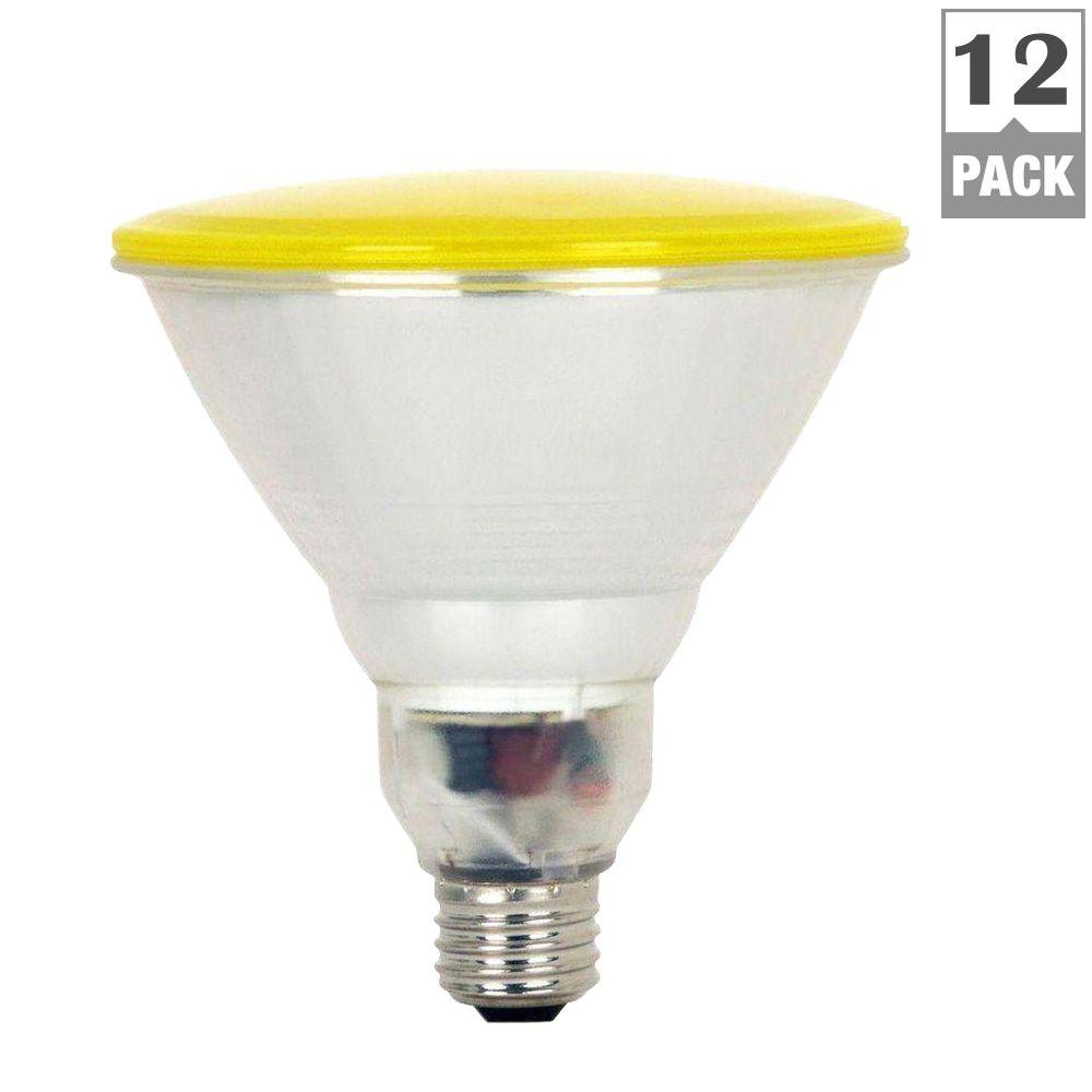 Feit Electric 100W Equivalent Yellow PAR38 CFL Flood Light Bulb (12-Pack)