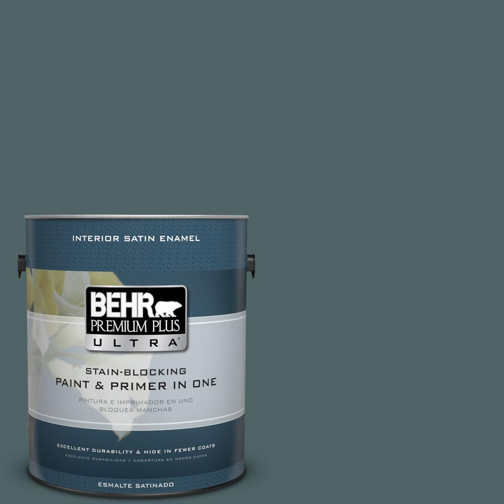 1 gal. #PPU12-20 Underwater Color Satin Enamel Interior Paint