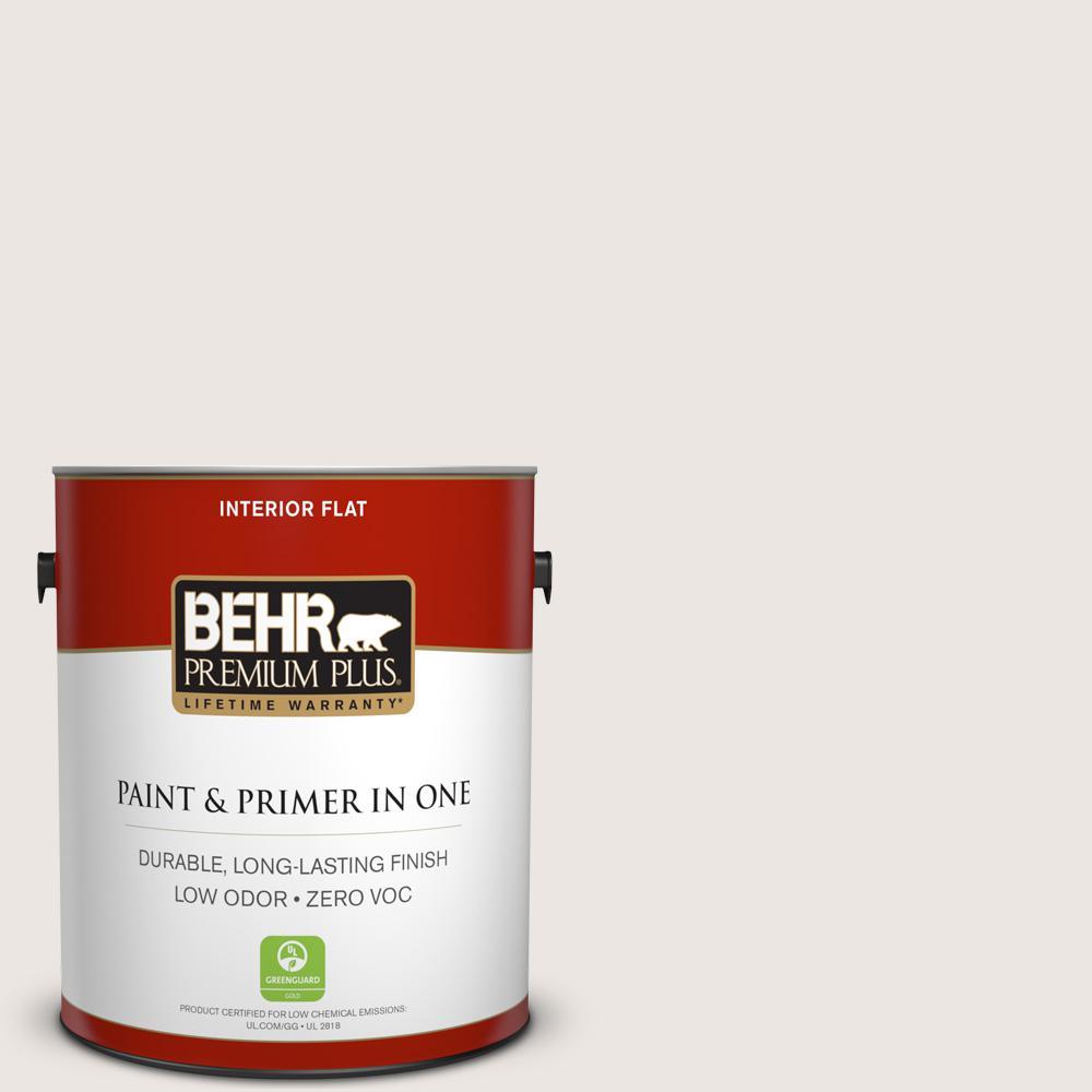 1 gal. #PR-W12 Timid White Flat Zero VOC Interior Paint and