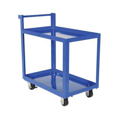 Steel Service Cart with Two 22 in. x 36 in. Shelves