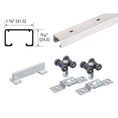 60 in. Grant 150E Single Economy Door Hardware and Track