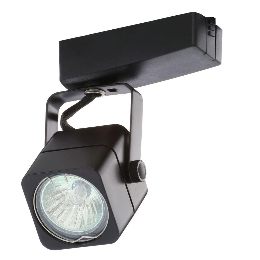 Juno Trac-Lites Low-Voltage Black Cast Cube Light