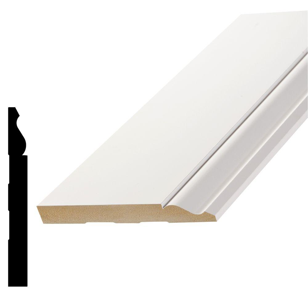 11/16 in. x 5-1/4 in. Primed Fiberboard Base Moulding