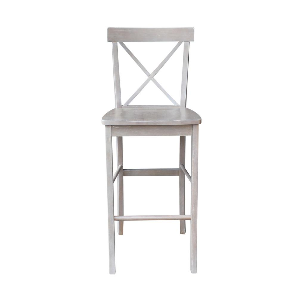 Surprising International Concepts Alexa 29 In H Weathered Taupe Gray Ncnpc Chair Design For Home Ncnpcorg
