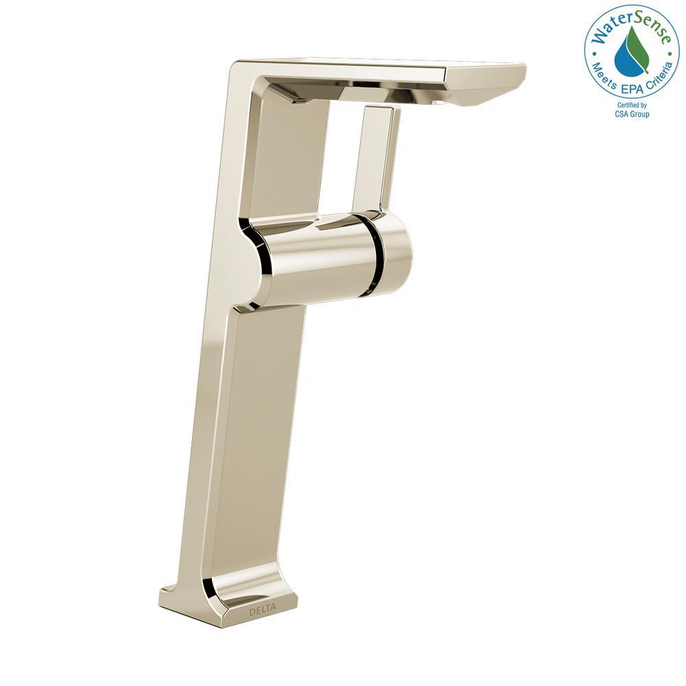 Pivotal Single Hole Single-Handle Vessel Bathroom Faucet in Polished Nickel