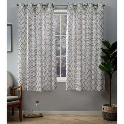 Helena 54 in. W x 63 in. L Sheer Grommet Top Curtain Panel in Natural (2 Panels)