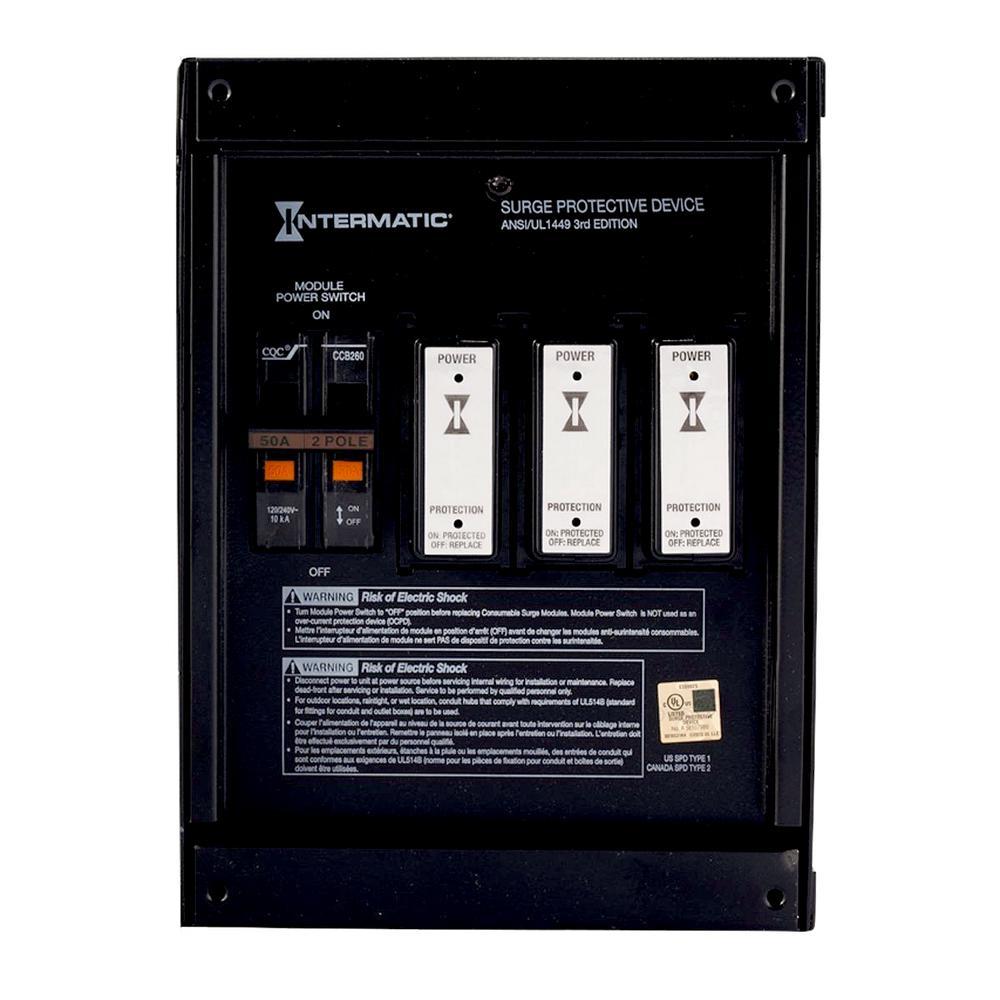 leviton 120 volt 240 volt residential whole house surge protector rh homedepot com