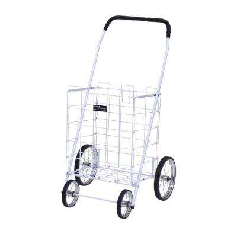 Mitey Shopping Cart in White