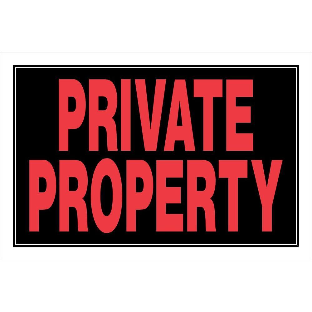 Hillman 8 in  x 12 in  Plastic Private Property No Trespassing Sign