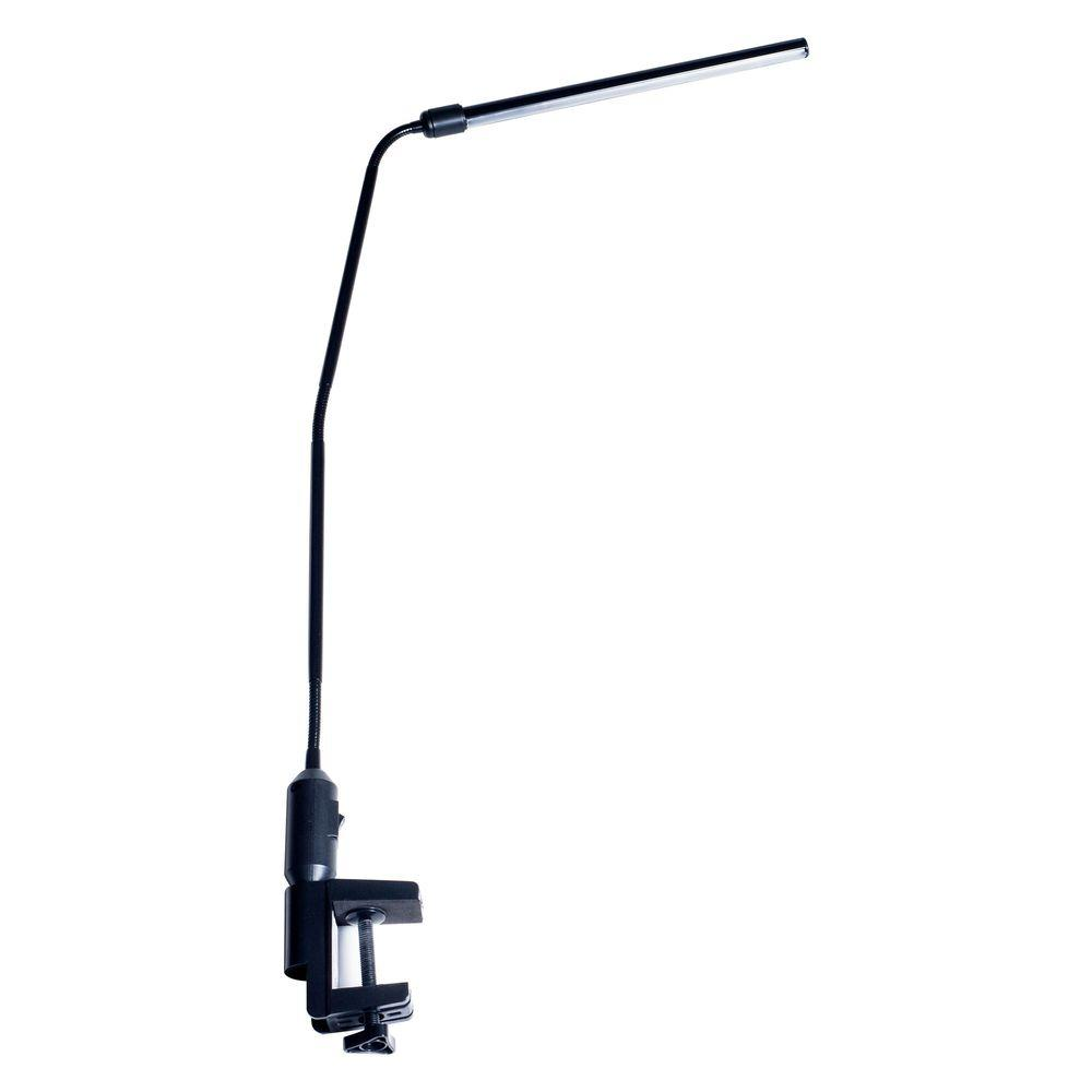 Home Depot Clamp Light: Lavish Home 41 In. Black Modern Contemporary LED Clamp