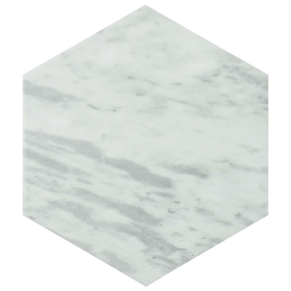 Classico Bardiglio Hexagon Light 7 In. X 8 In. Porcelain Floor