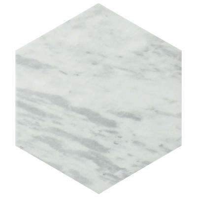 Classico Bardiglio Hexagon Light 7 in. x 8 in. Porcelain Floor and Wall Tile (11 sq. ft. / case)