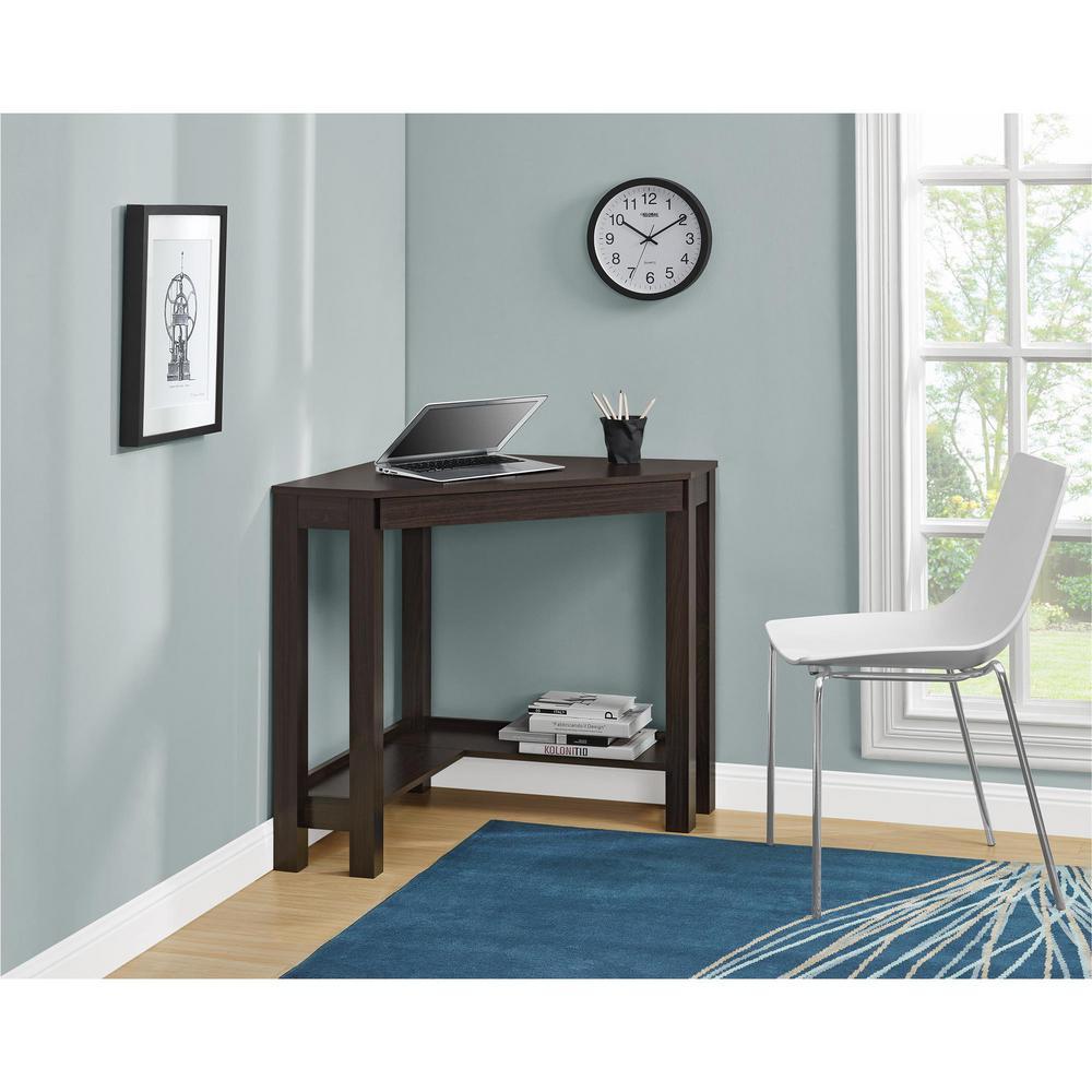 Ameriwood Nelson Espresso Corner Desk HD40519 - The Home Depot