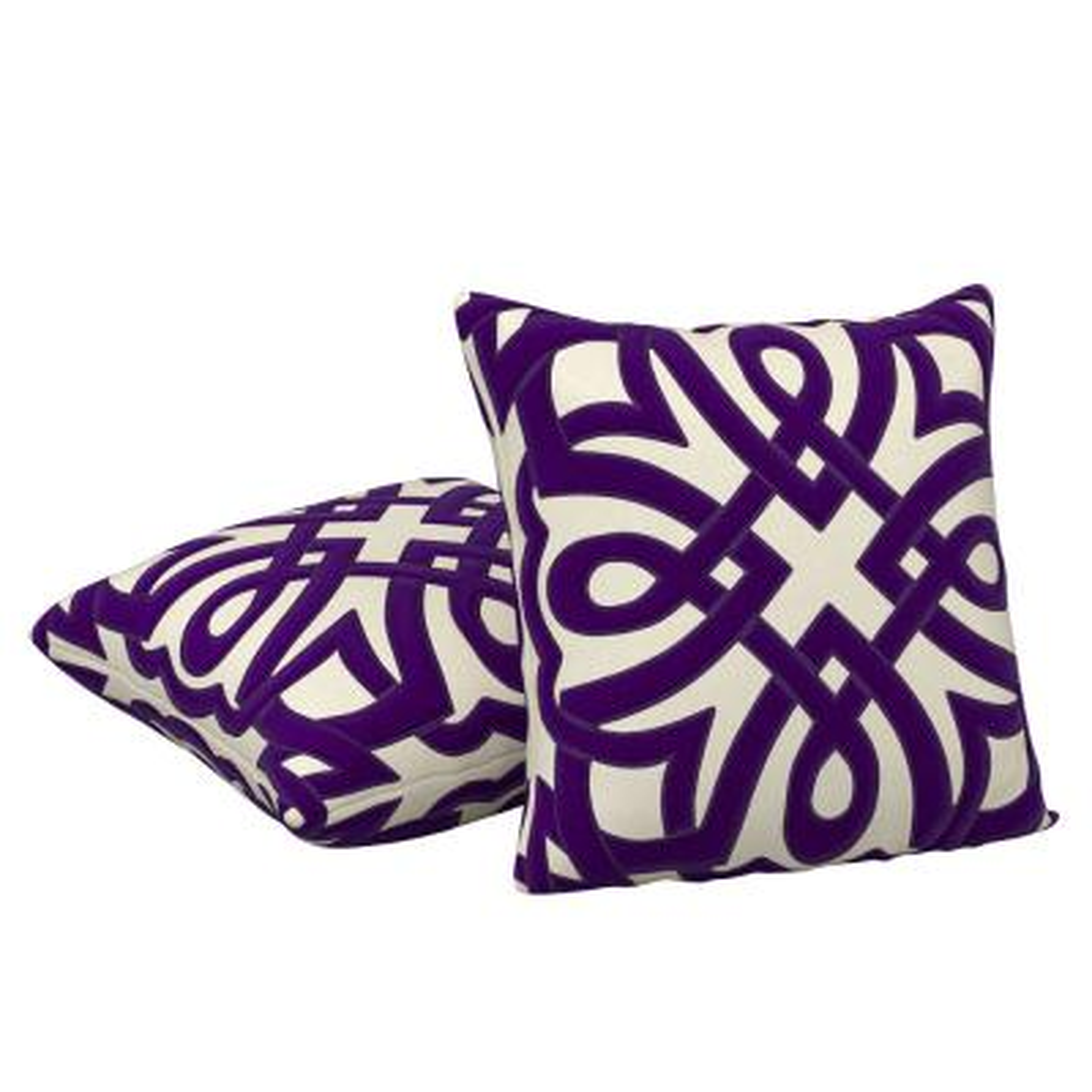 Imperial Purple Decorative Pillow (Set of 2)