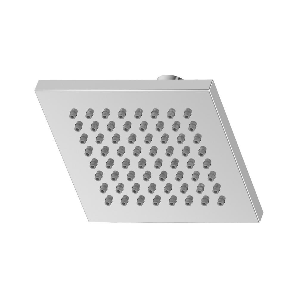 Symmons Duro 1-Spray 6 in. Fixed Square Showerhead in Polished Chrome