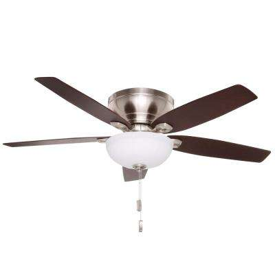 Durant 54 in. Indoor Brushed Nickel Ceiling Fan with Light