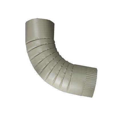 4 in. Round Clay Aluminum Downpipe Elbow