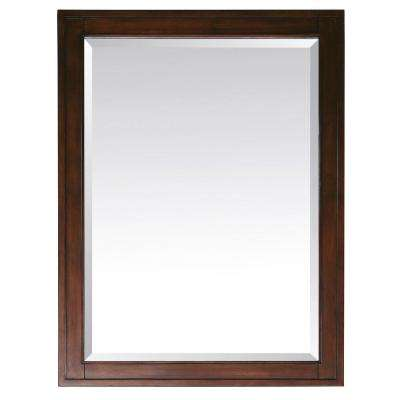 Madison 32 in. L x 28 in. W Framed Mirror in Tobacco
