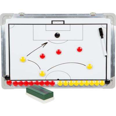 Magnetic Soccer Coaching Clipboard in White