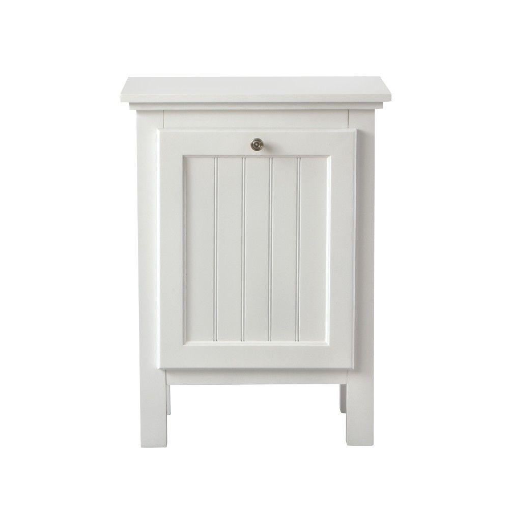 Home Decorators Collection Ridgemore 20 In W Slide Out Drawer Hamper In White 3062900410 The