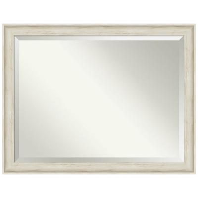 Medium Rectangle Regal Birch Cream Beveled Glass Casual Mirror (35 in. H x 45 in. W)