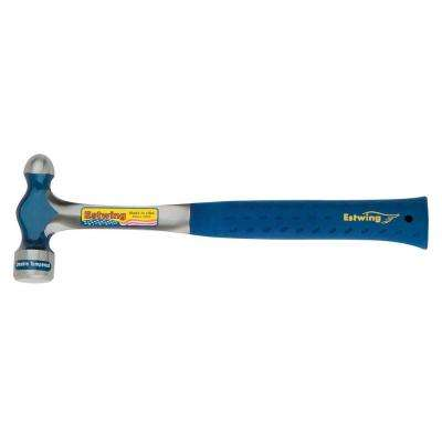 12 oz. Solid Steel Ball Peen Hammer with Blue Vinyl Shock Reduction Grip