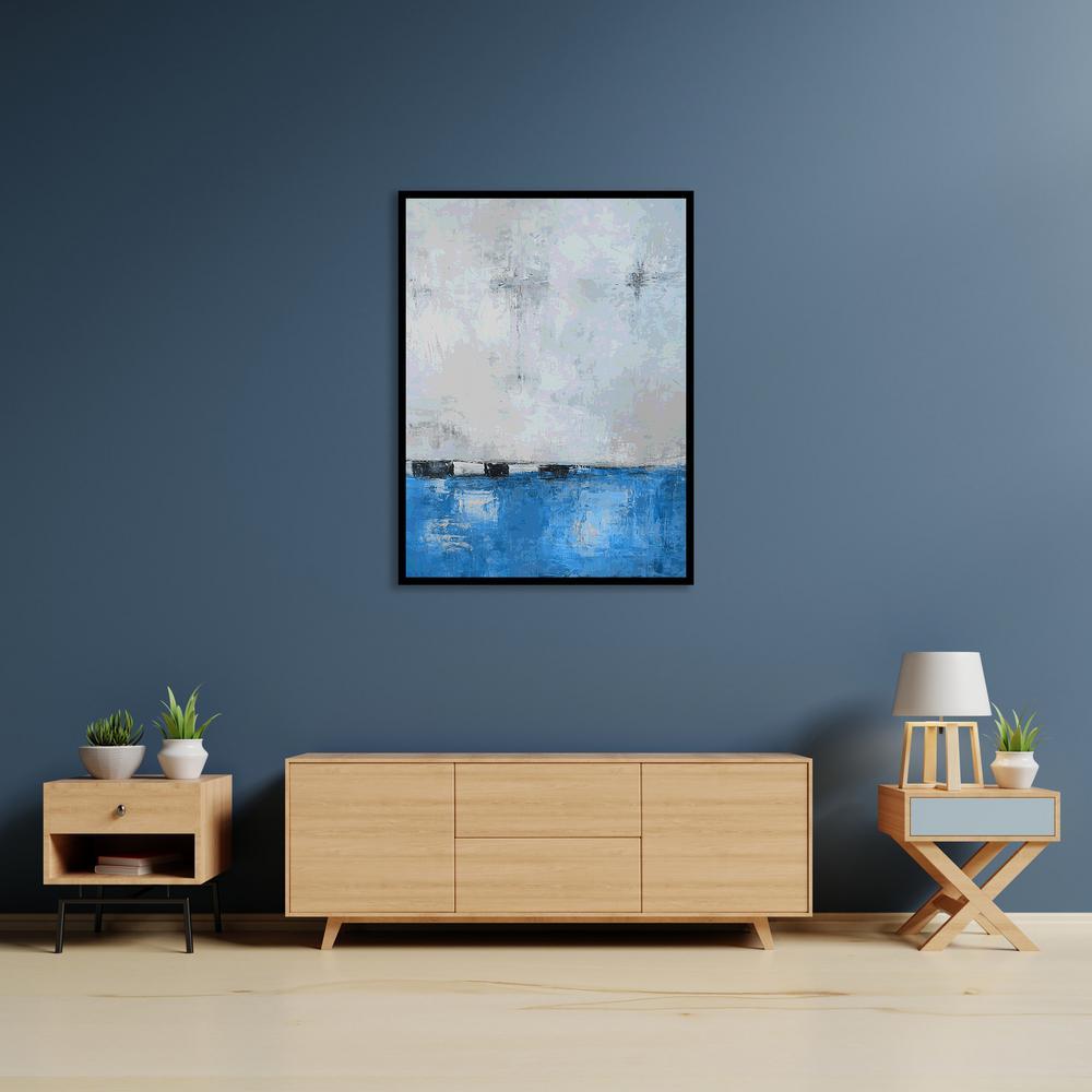 """Lochmara Lighting"" by Scott Medwetz Framed Canvas Wall Art"