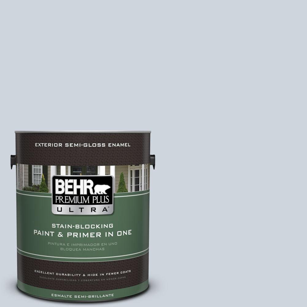 BEHR Premium Plus Ultra 1-gal. #PPU14-17 Polar Drift Semi-Gloss Enamel Exterior Paint