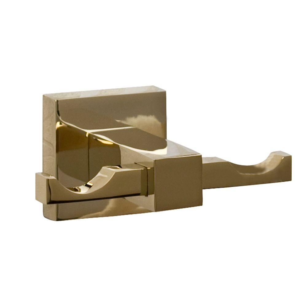 Barclay Products Jordyn Double Robe Hook in Polished Brass